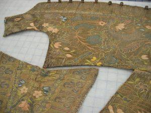 Parts of a man's waistcoat, Toronto, Royal Ontario Museum, 909.21.2.A, B, C.