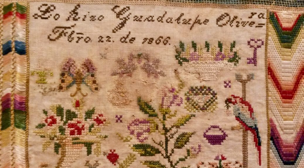 """B"" for Bordados: An Exhibition of Embroidered Textiles from Mexico.  Rebecca Devaney, MFA Textile Art and Artefact, National College of Art and  Design, ..."
